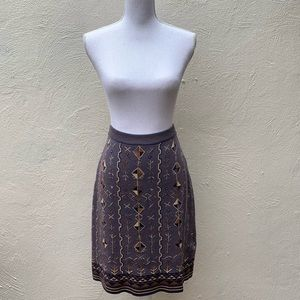 Peruvian Connection Aztec design pencil skirt